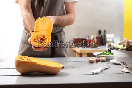 butternut squash in a vegan the
