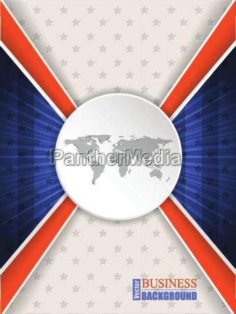 abstract blue orange brochure with world