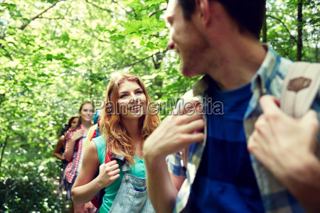 group, of, smiling, friends, with, backpacks - 20169639