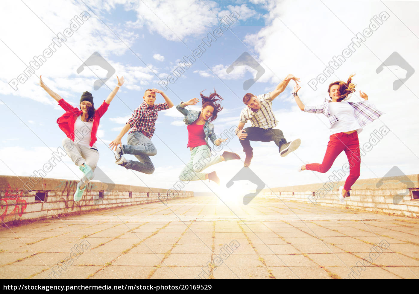 group, of, teenagers, jumping - 20169529