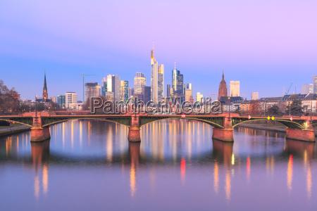frankfurt am main at sunrise germany