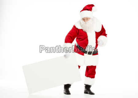 santa claus with white board
