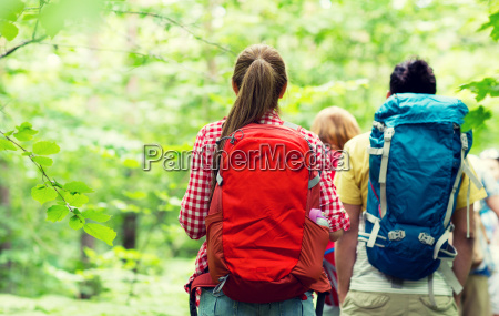 close, up, of, friends, with, backpacks - 20170961