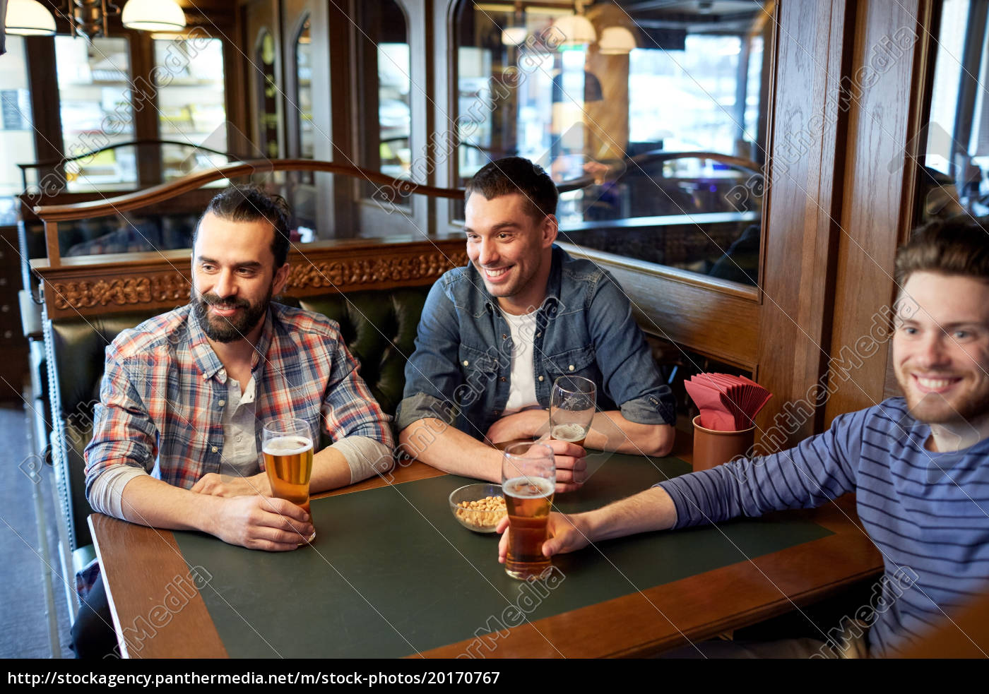 happy, male, friends, drinking, beer, at - 20170767