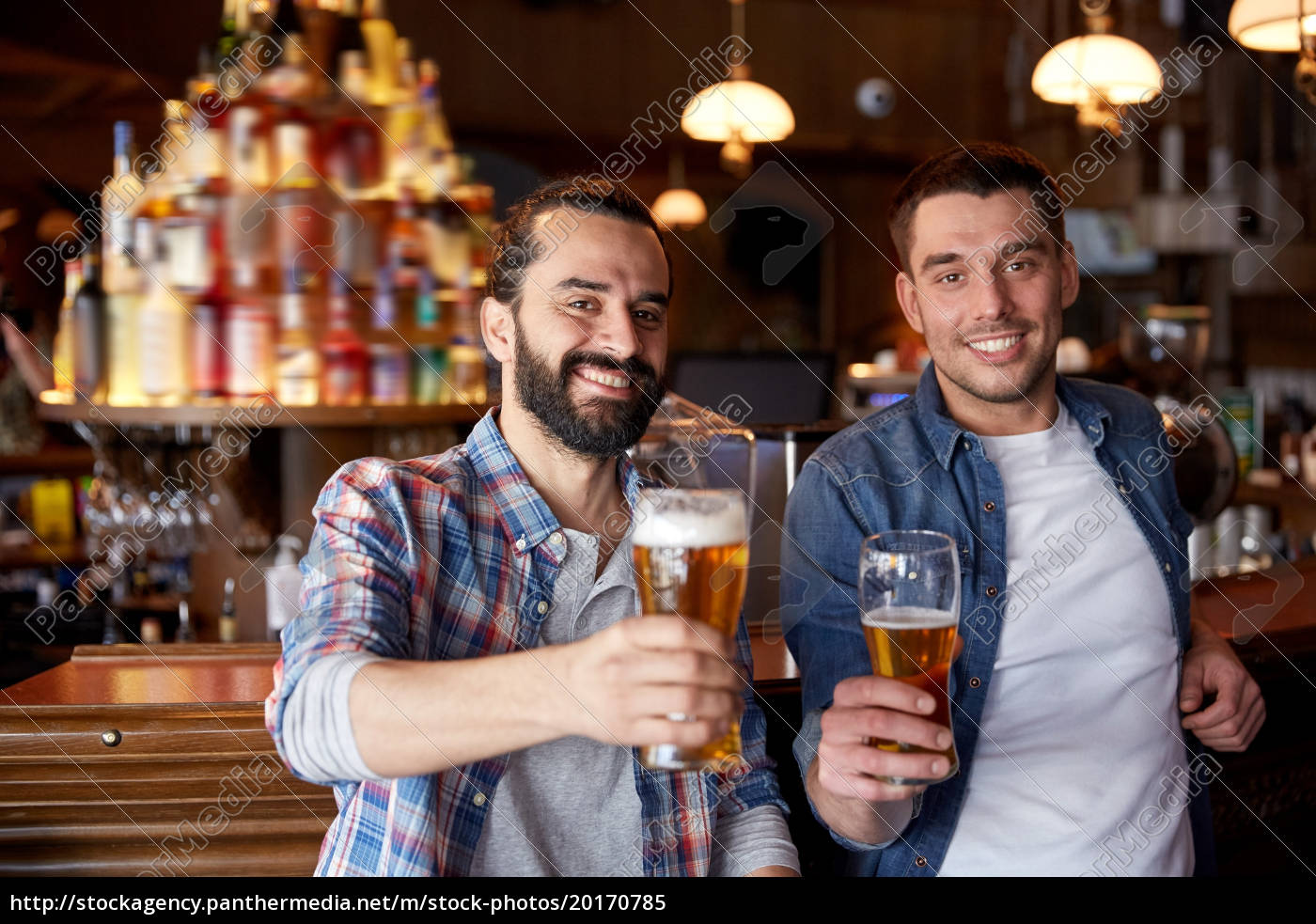 happy, male, friends, drinking, beer, at - 20170785
