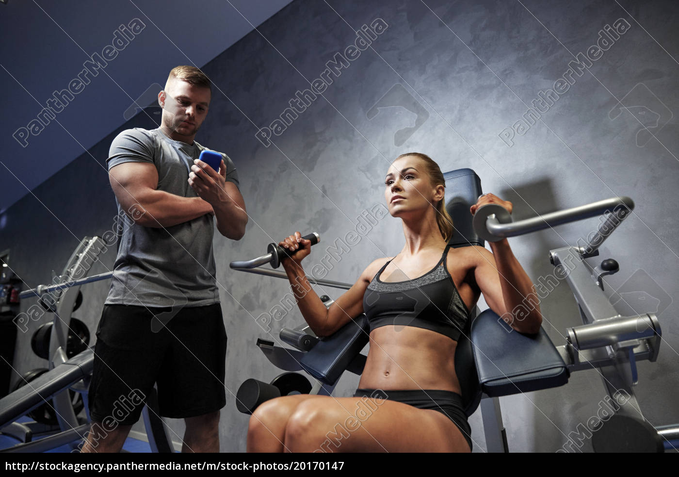 man, and, woman, flexing, muscles, on - 20170147