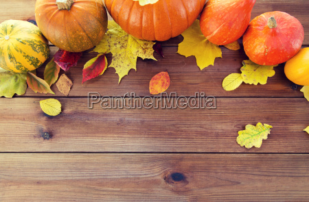 close, up, of, pumpkins, on, wooden - 20171061