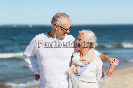 happy, senior, couple, hugging, on, summer - 20172631