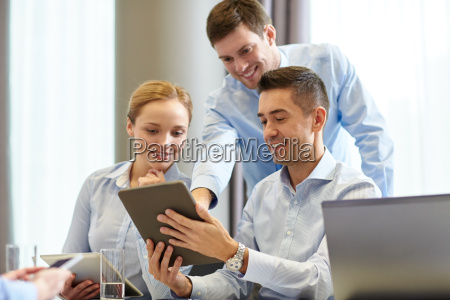 smiling, business, people, meeting, in, office - 20172225