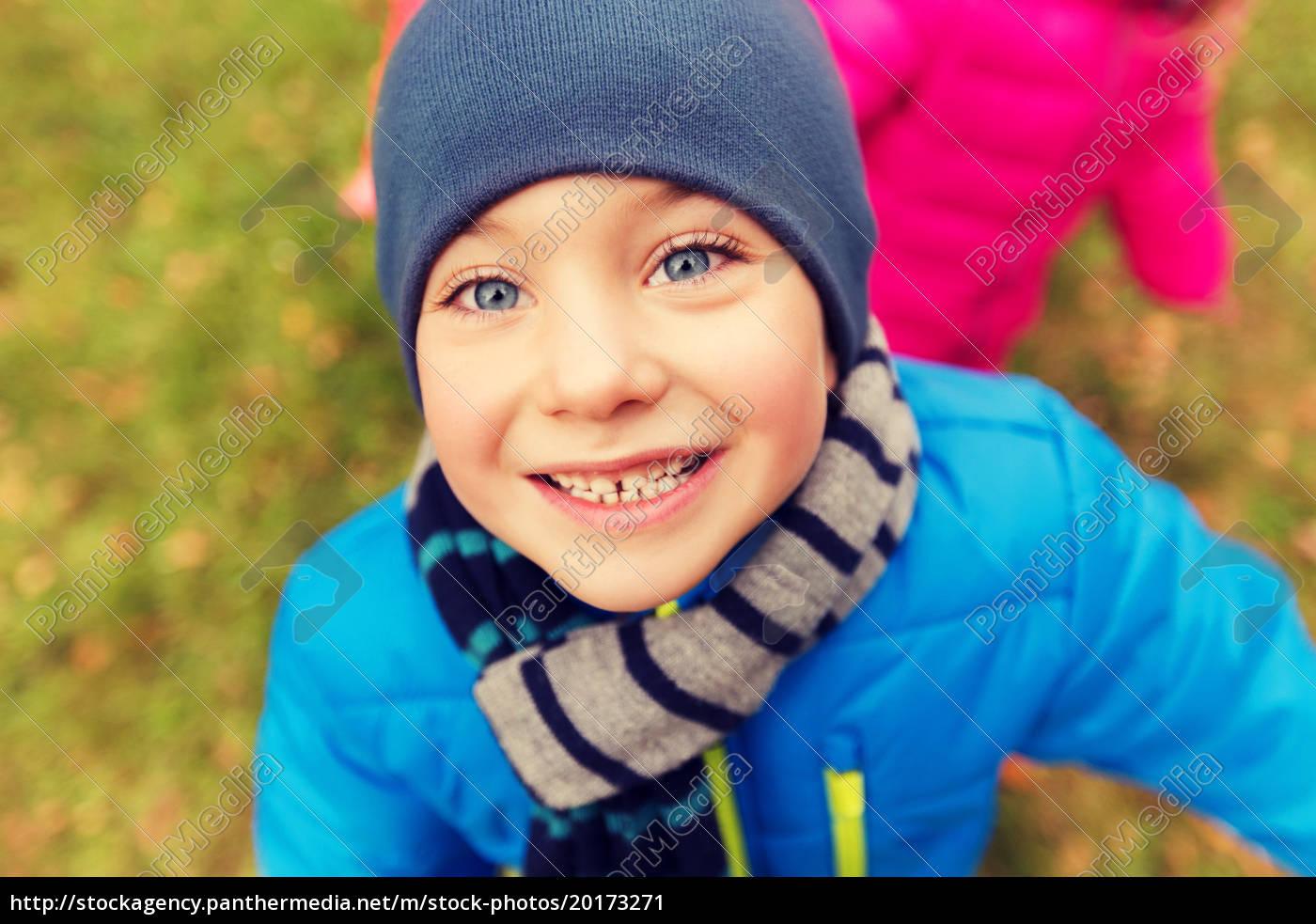 happy, little, boy, face, outdoors - 20173271