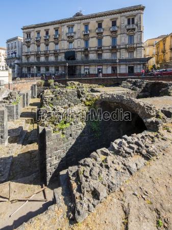 italy sicily catania excavation site of