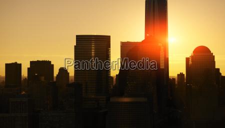 usa new york city skyline at