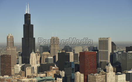 usa aerial photograph of the city