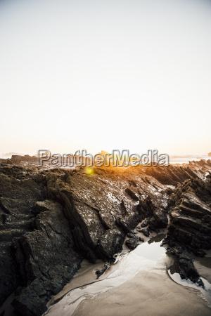 portugal alentejo sunset at zambujeira do