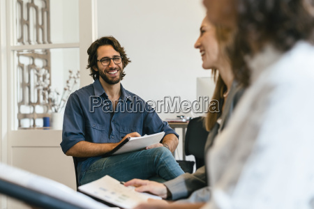 business people discussing in work meeting
