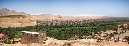 morocco midelt panramic view of draa