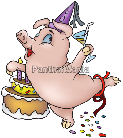 birthday pig dancing