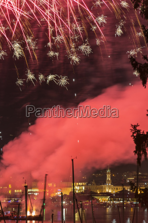 germany constance lake constance fireworks at