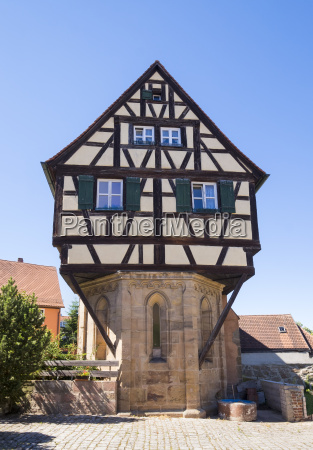 germany bavaria franconia heilsbronn spitalkapelle