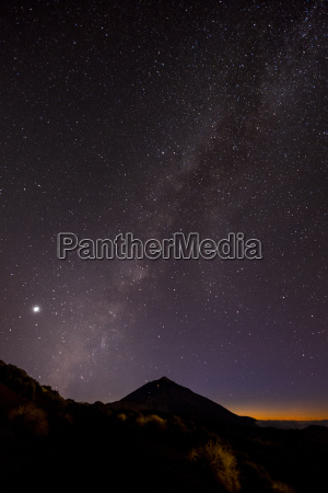 spain tenerife night shot with stars