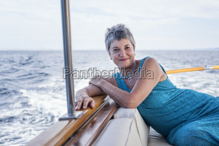 smiling woman on a boat trip