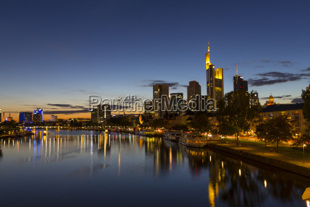 germany hesse frankfurt financial district in