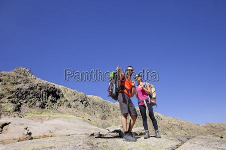 spain sierra de gredos couple hiking