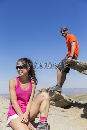 spain sierra de gredos smiling hikers