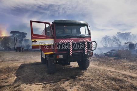 south africa stellenbosch fire truck parked