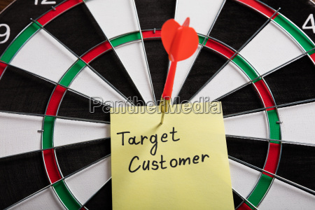 aim on a target audience concept