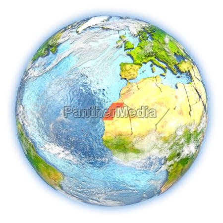 western sahara on earth isolated