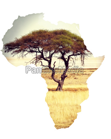 map of africa continent concept with