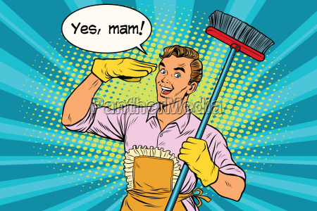 yes mam husband and cleaning the