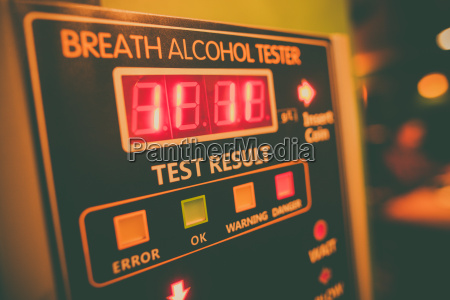 alcohol tester on a wall