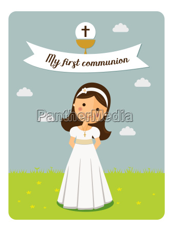 my first communion invitation