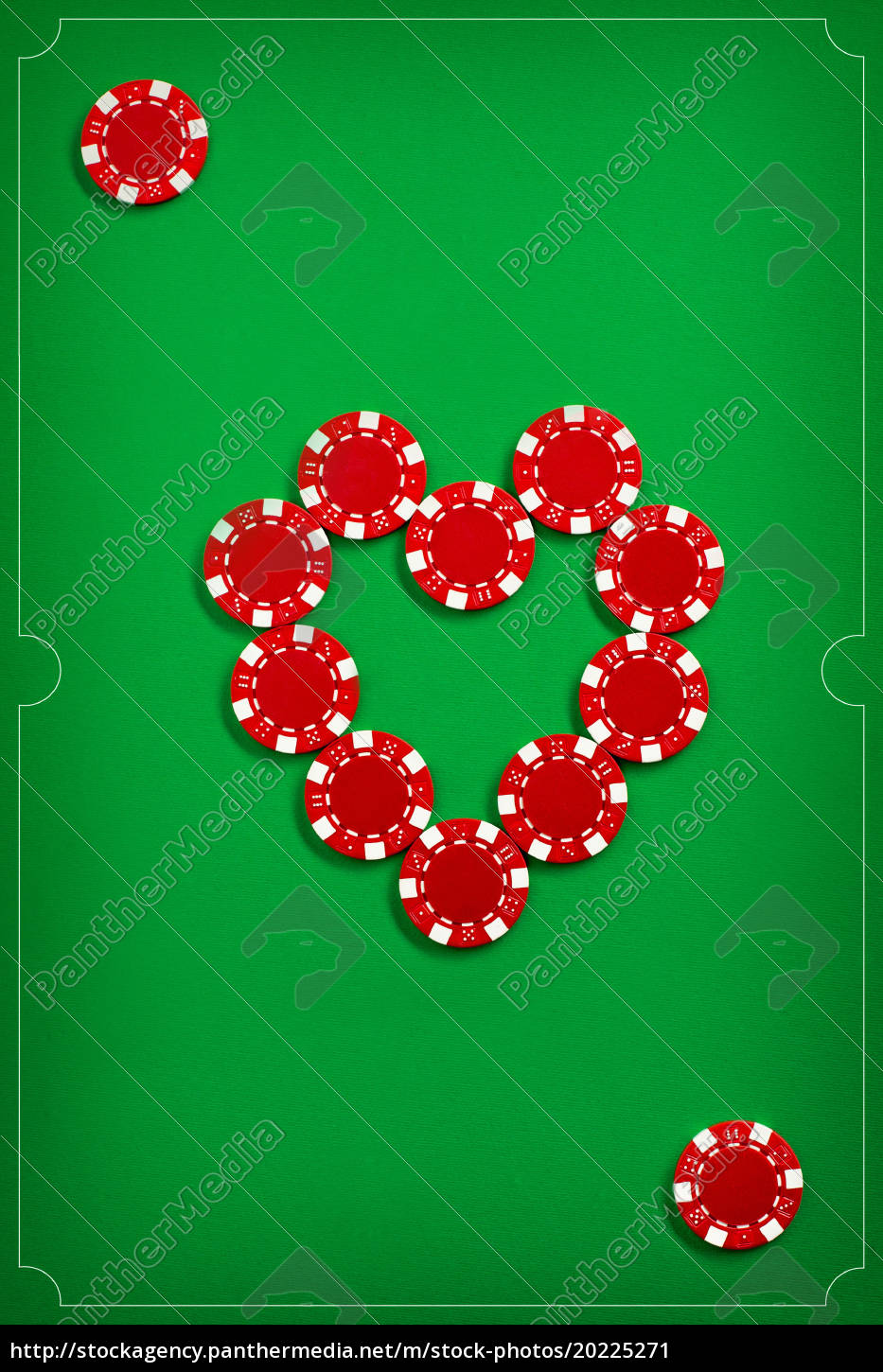 the, poker, chips, on, green, background - 20225271