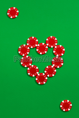 the, poker, chips, on, green, background - 20225315