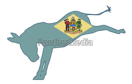 delaware democrat donkey flag