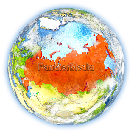 russia on earth isolated