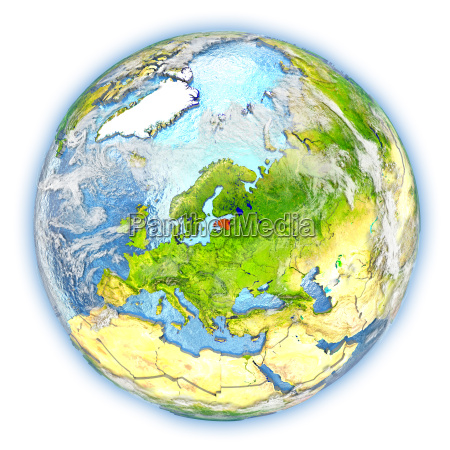estonia on earth isolated