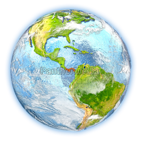 panama on earth isolated