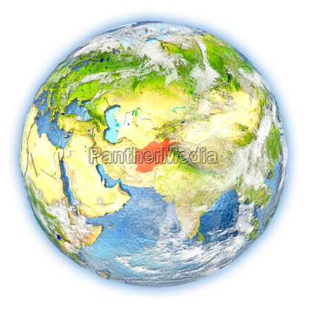 afghanistan on earth isolated