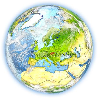 slovakia on earth isolated