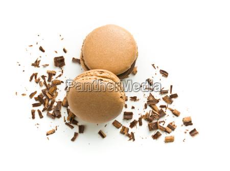 sweet chocolate macarons