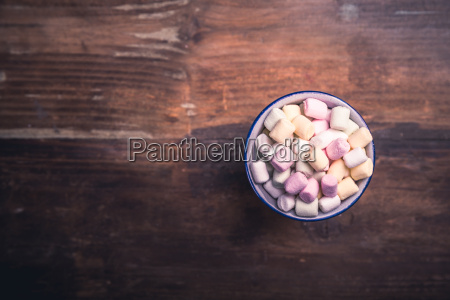 different colored marshmallows