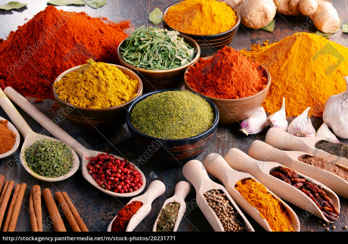 variety, of, spices, and, herbs, on - 20231771