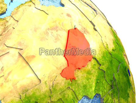niger on earth in red