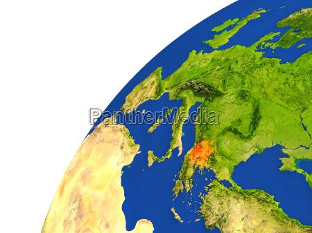 country of macedonia satellite view