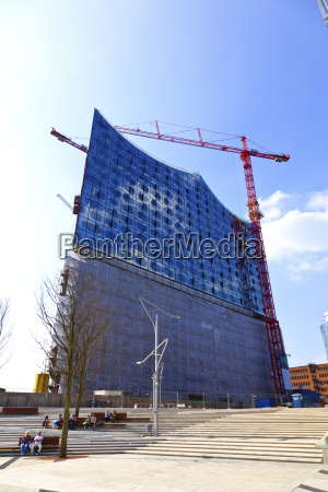 construction site of the elbphilharmonie in