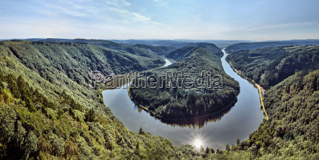 landscape of the saarschleife in the